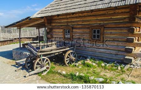 Ancient house of the Ukrainian cossacks - stock photo