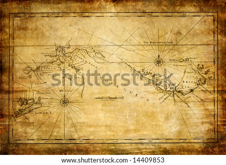 ancient map - stock photo