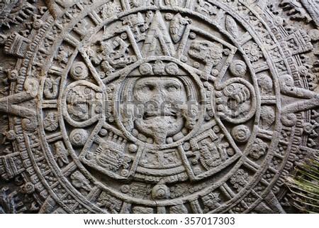 Ancient Mayan Calendar - stock photo