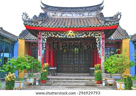 Ancient pagoda in Hoi An, Vietnam - stock photo