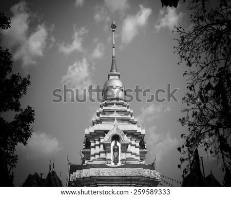 Ancient Pagoda Temple - stock photo