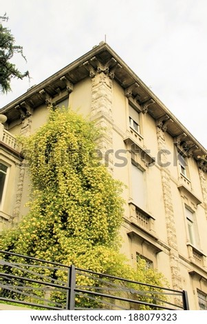 ancient palace in Brescia in northern Italy  - stock photo