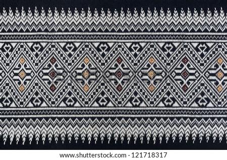 Ancient Pattern style Thai Cotton - stock photo