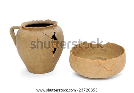 Ancient pottery - stock photo