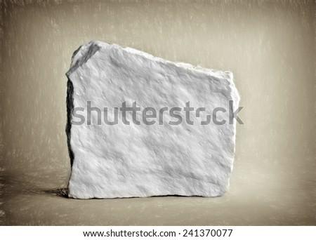 ancient rock  - illustration based on own photo image - stock photo