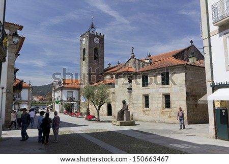 Ancient Roman Church of Ponte de Lima, Portugal - stock photo