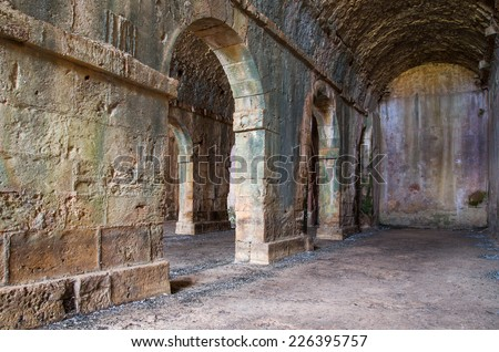 Ancient, Roman cistern Aptera in Crete, Greece - stock photo