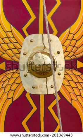 Ancient Roman Legionary Shield - stock photo