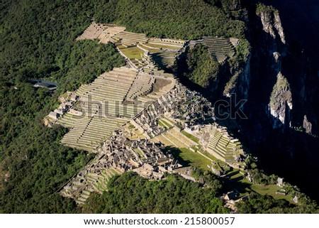 Ancient ruins in Peru, South America - stock photo
