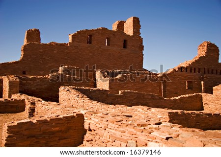 Ancient ruins in the Southwest - stock photo