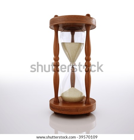 ancient sandglass - stock photo