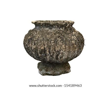 Ancient stone vase.  - stock photo