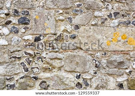 Ancient stone wall - stock photo