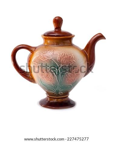 Ancient teapot  - stock photo