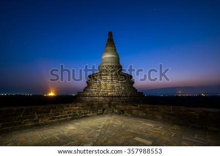 ancient temple in Bagan, Myanmar - stock photo