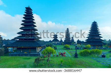 Ancient temple Pura Besakih in Bali, Indonesia  - stock photo
