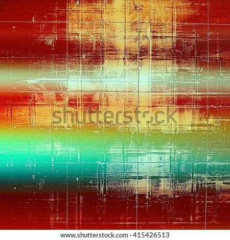 Ancient texture or damaged old style background with vintage grungy design elements and different color patterns: yellow (beige); brown; green; blue; red (orange) - stock photo