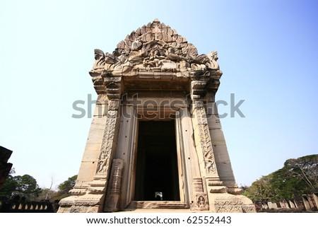 ancient Thai Stone castle - stock photo