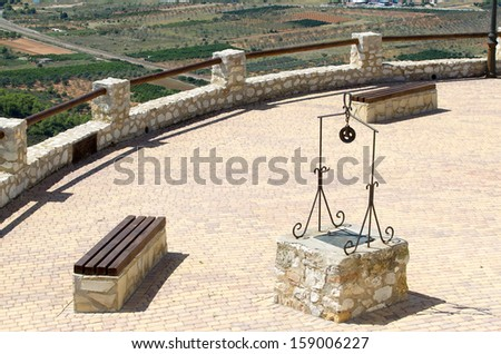 Ancient well - stock photo