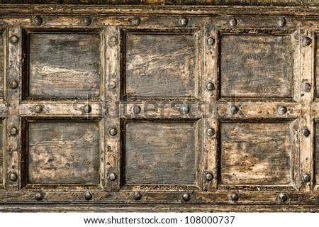 Ancient wood pattern ; interiors wall. - stock photo