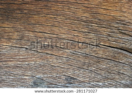 ancient wood plank textured detail on exterior of romanian traditional church - stock photo