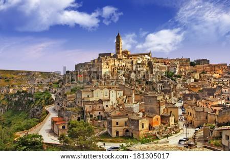 ancienta Matera, Basilicata, Italy - stock photo