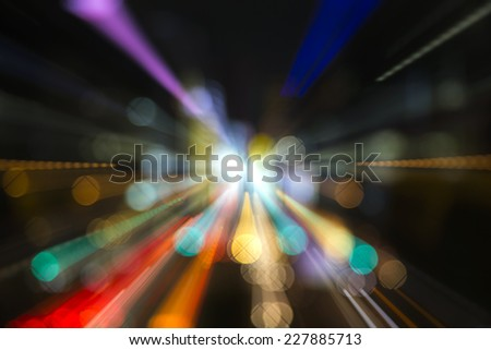 and abstract neon light image made from tokyocity scene at night - stock photo