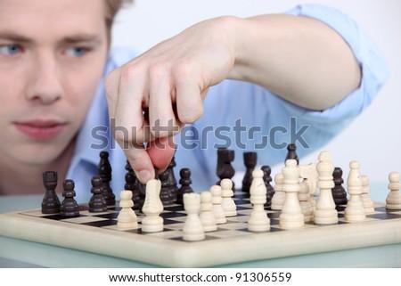 And chess mate! - stock photo