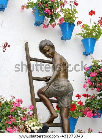 Andalusia patio - stock photo