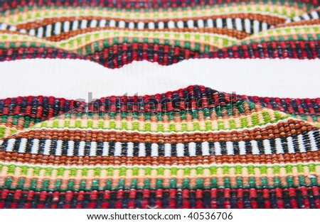 andean tapestry with white strip - background - stock photo