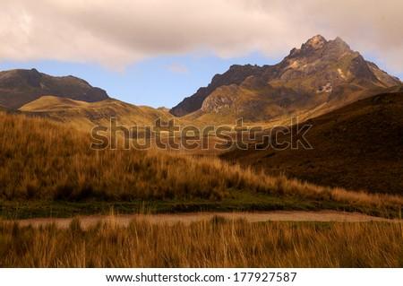 Andes, Ecuador, South America                                - stock photo