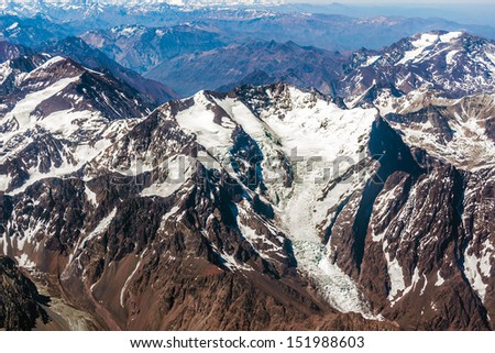 Andes Mountains , Chile , South America - stock photo