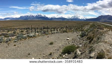 Andes Mountains near El Chalten, Argentina - stock photo