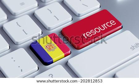 Andorra High Resolution Resource Concept - stock photo