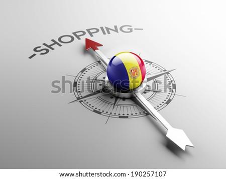 Andorra High Resolution Shopping Concept - stock photo