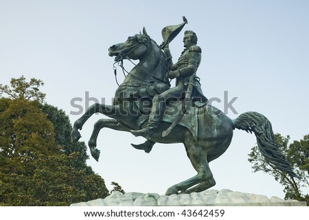Andrew Jackson statue in Washington DC, USA - stock photo