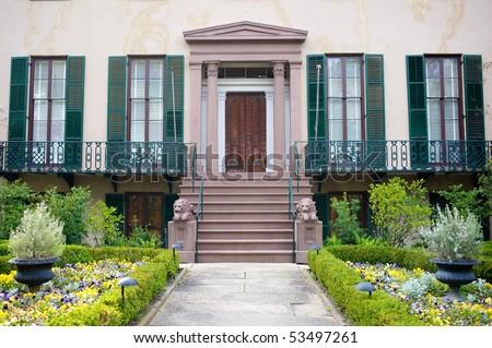 Andrew Low House, Savannah, Georgia, USA - stock photo