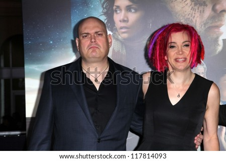 """Andy Wachowski and Lana Wachowski at the """"Cloud Atlas"""" Los Angeles Premiere, Chinese Theater, Hollywood, CA 10-24-12 - stock photo"""