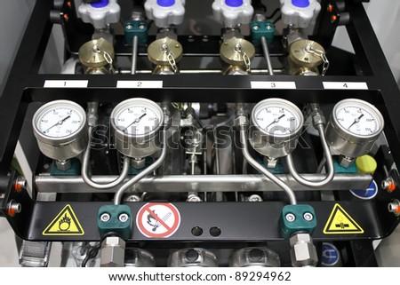 Anesthesia oxygen scales - stock photo