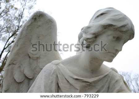 Angel at Hollywood Cemetery - stock photo