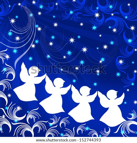 Angel. Christmas. Illustration. - stock photo