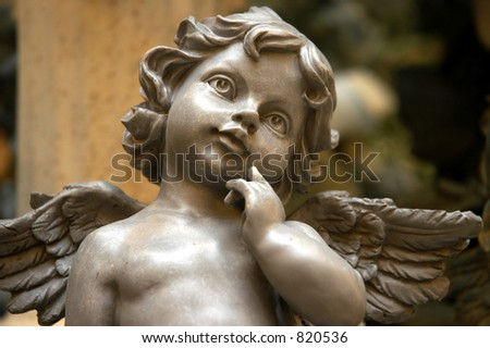 Angel contemplating - stock photo