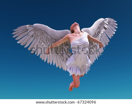 angel fly to sky - stock photo