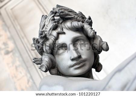 angel head - stock photo
