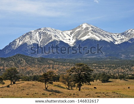 Angel of Shavano, Rocky Mountains, Colorado - stock photo
