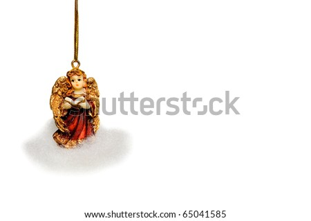 Angel on cloud - Christmas tree decoration - stock photo