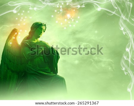 angel statue - stock photo