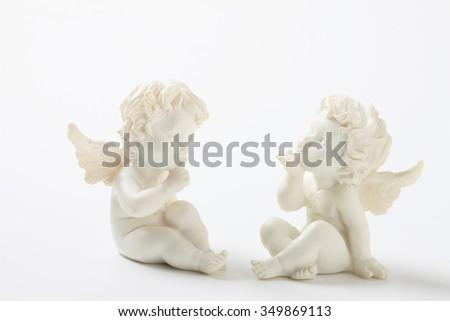 Angel, stone statue - stock photo