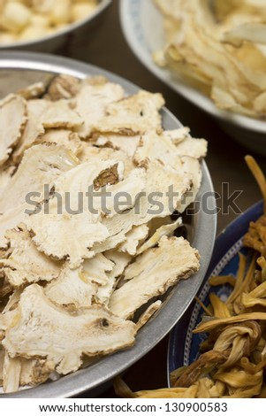 Angelica sinensis or Female Ginseng; Non sharpened file - stock photo