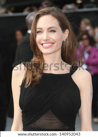 Angelina Jolie arriving for the World War Z World Premiere, at Empire Leicester Square, London. 02/06/2013 - stock photo